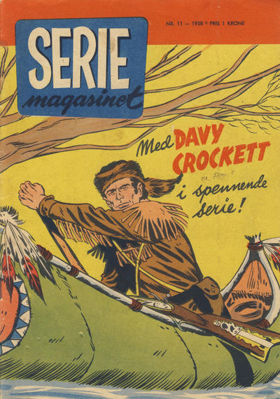 Cover for Seriemagasinet (Serieforlaget / Se-Bladene / Stabenfeldt, 1951 series) #11/1958