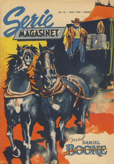 Cover for Seriemagasinet (Serieforlaget / Se-Bladene / Stabenfeldt, 1951 series) #10/1958