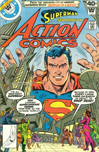 Cover for Action Comics (DC, 1938 series) #496