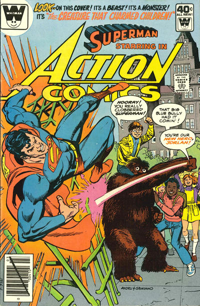 Cover for Action Comics (DC, 1938 series) #505 [Whitman]