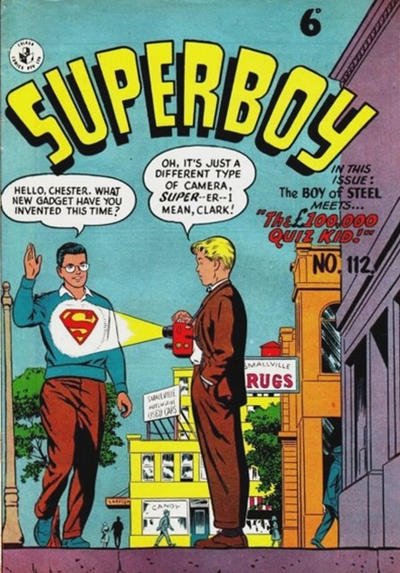 Cover for Superboy (K. G. Murray, 1949 series) #112