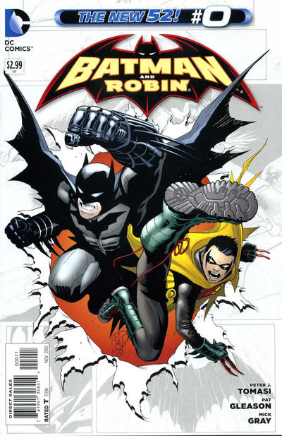 Cover for Batman and Robin (DC, 2011 series) #0