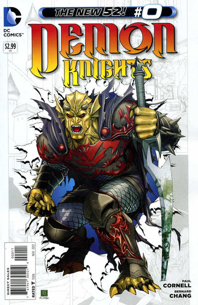 Cover for Demon Knights (DC, 2011 series) #0