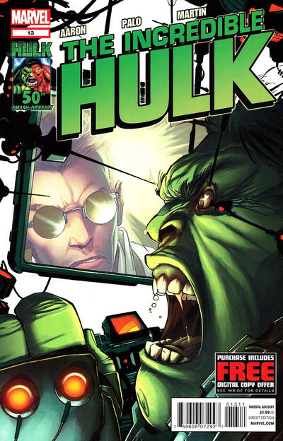 Cover for The Incredible Hulk (Marvel, 2011 series) #13