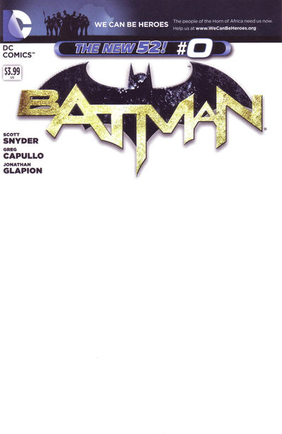 Cover for Batman (DC, 2011 series) #0 [Greg Capullo Sketch Cover]