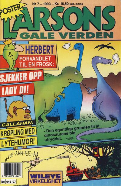 Cover for Larsons gale verden (Bladkompaniet / Schibsted, 1992 series) #7/1993