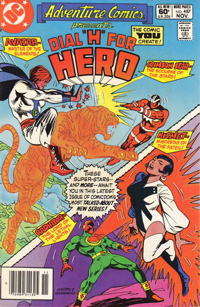 Cover for Adventure Comics (DC, 1938 series) #487 [Newsstand]