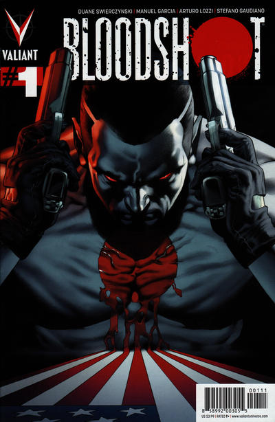 Cover for Bloodshot (Valiant Entertainment, 2012 series) #1 [Gold Logo Edition]