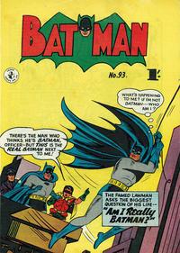 Cover Thumbnail for Batman (K. G. Murray, 1950 series) #93