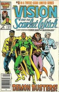 Cover Thumbnail for The Vision and the Scarlet Witch (Marvel, 1985 series) #8 [Newsstand Edition]