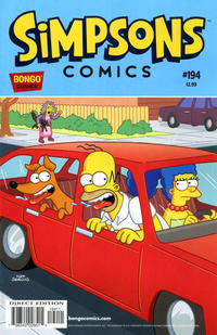 Cover for Simpsons Comics (Bongo, 1993 series) #194