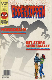 Cover for Edderkoppen (Semic, 1984 series) #1/1991