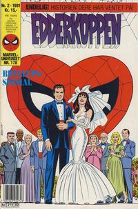 Cover Thumbnail for Edderkoppen (Semic, 1984 series) #2/1991