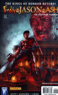 Cover Thumbnail for Freddy vs Jason vs Ash (of Army of Darkness): The Nightmare Warriors (DC, 2009 series) #2 [Jason Craig Cover]