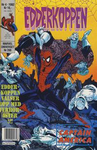 Cover Thumbnail for Edderkoppen (Semic, 1984 series) #4/1992