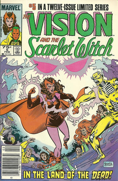 Cover for The Vision and the Scarlet Witch (Marvel, 1985 series) #5 [Direct Edition]
