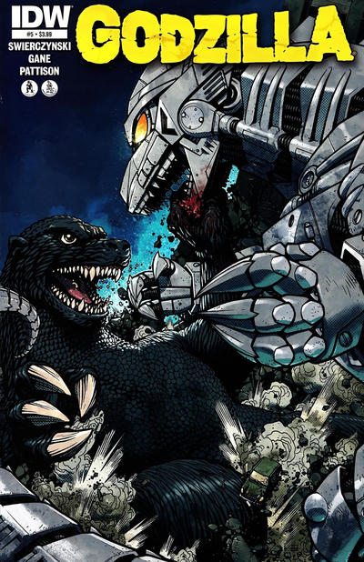 Cover for Godzilla (IDW, 2012 series) #5 [Cover RI Matt Frank]