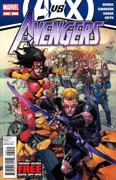 Cover for Avengers (Marvel, 2010 series) #30