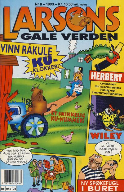 Cover for Larsons gale verden (Bladkompaniet / Schibsted, 1992 series) #8/1993