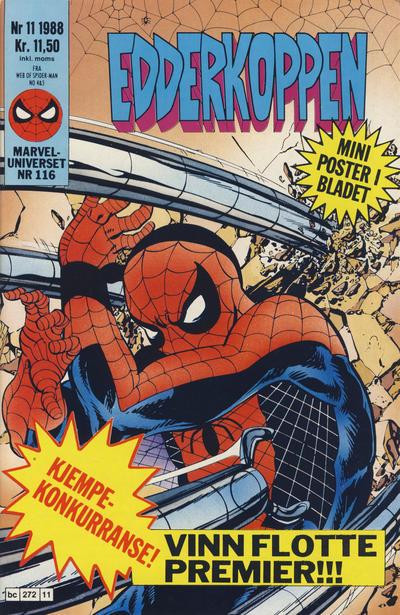 Cover for Edderkoppen (Semic, 1984 series) #11/1988