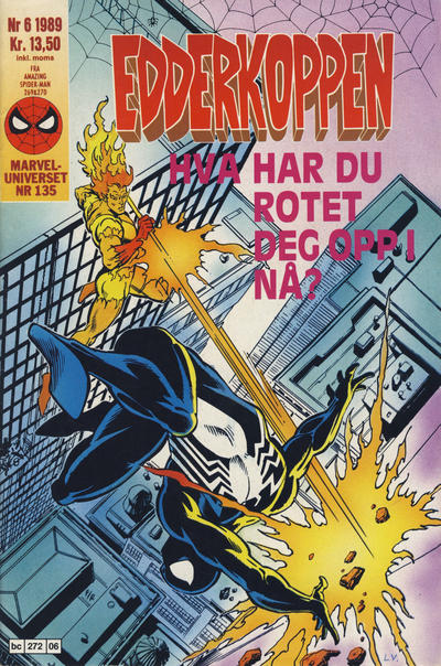 Cover for Edderkoppen (Semic, 1984 series) #6/1989