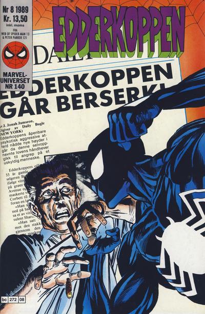 Cover for Edderkoppen (Semic, 1984 series) #8/1989