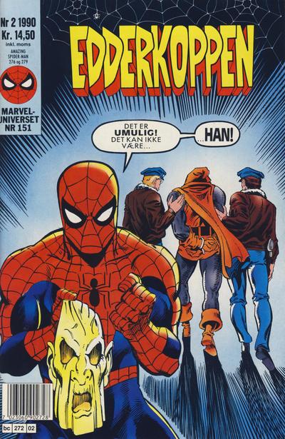 Cover for Edderkoppen (Semic, 1984 series) #2/1990