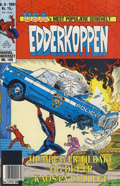 Cover for Edderkoppen (Semic, 1984 series) #8/1991