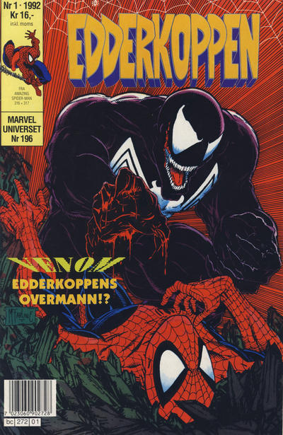 Cover for Edderkoppen (Semic, 1984 series) #1/1992