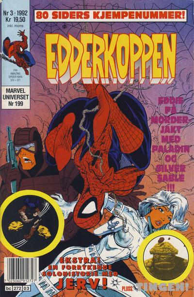 Cover for Edderkoppen (Semic, 1984 series) #3/1992