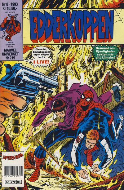 Cover for Edderkoppen (Semic, 1984 series) #8/1993