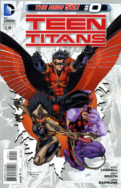 Cover for Teen Titans (DC, 2011 series) #0 [Brett Booth Wraparound Sketch Cover]