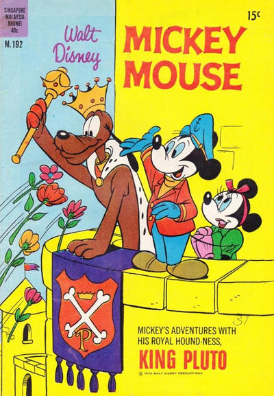 Cover for Walt Disney's Mickey Mouse (W. G. Publications; Wogan Publications, 1956 series) #192