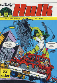 Cover Thumbnail for Lady Hulk (Atlantic Forlag, 1982 series) #2/1984