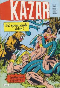 Cover Thumbnail for Ka-Zar (Atlantic Forlag, 1983 series) #4/1983