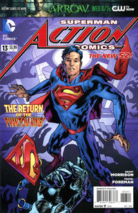 Cover Thumbnail for Action Comics (DC, 2011 series) #13 [Bryan Hitch Cover]