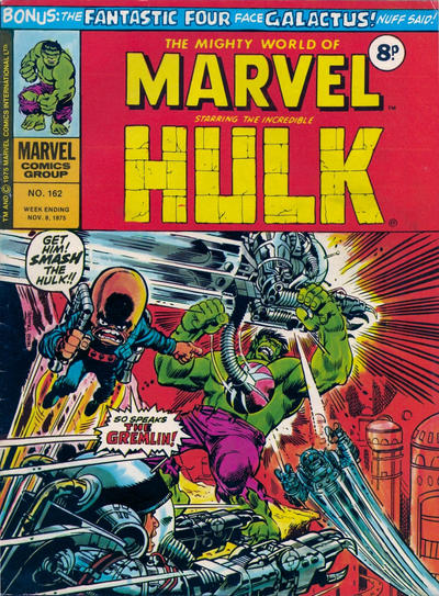 Cover for The Mighty World of Marvel (Marvel UK, 1972 series) #162
