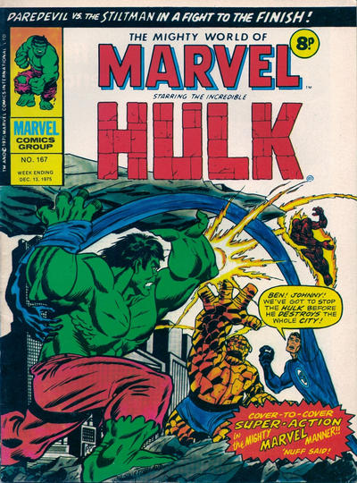 Cover for The Mighty World of Marvel (Marvel UK, 1972 series) #167