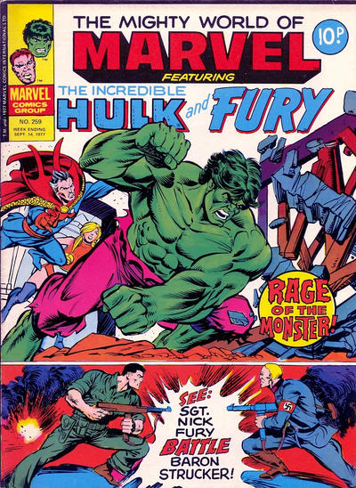 Cover for The Mighty World of Marvel (Marvel UK, 1972 series) #259