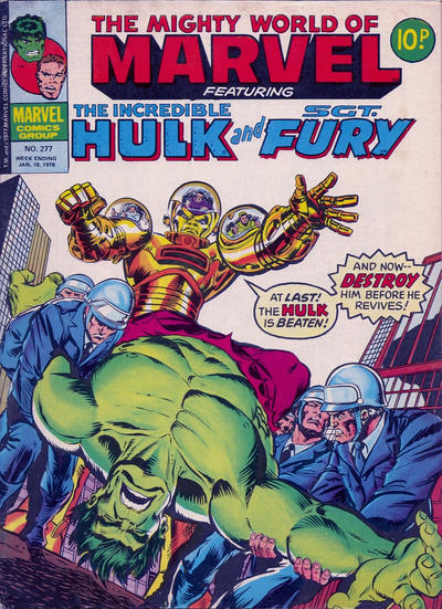 Cover for The Mighty World of Marvel (Marvel UK, 1972 series) #277