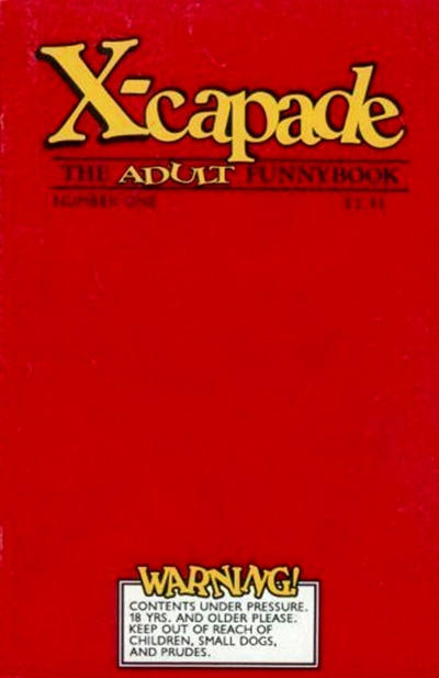 Cover for X-Capade the Adult Funnybook (Massive Comics Group, 1991 series) #1