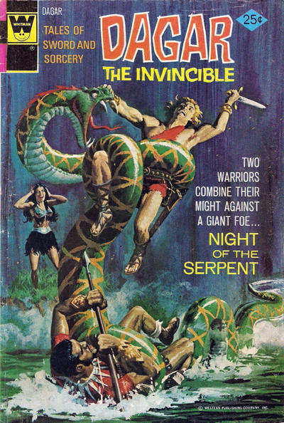 Cover for Tales of Sword and Sorcery Dagar the Invincible (Western, 1972 series) #9 [Gold Key]