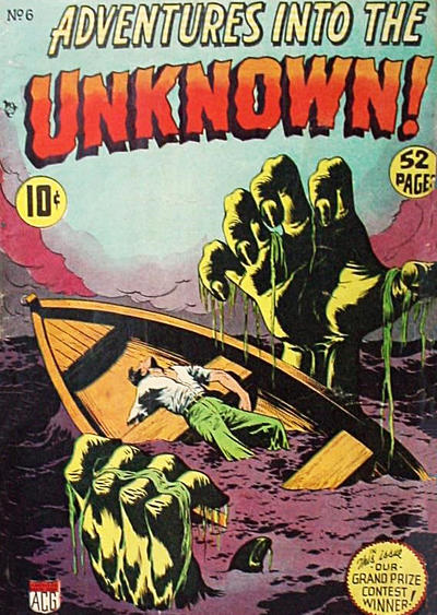 Cover for Adventures into the Unknown (Export Publishing, 1950 ? series) #6