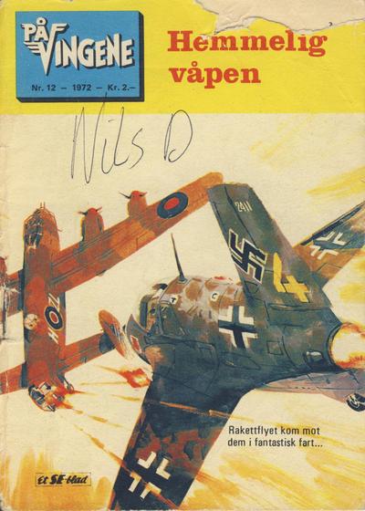 Cover for På Vingene (Serieforlaget / Se-Bladene / Stabenfeldt, 1963 series) #12/1972