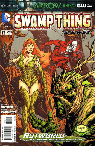 Cover for Swamp Thing (DC, 2011 series) #13