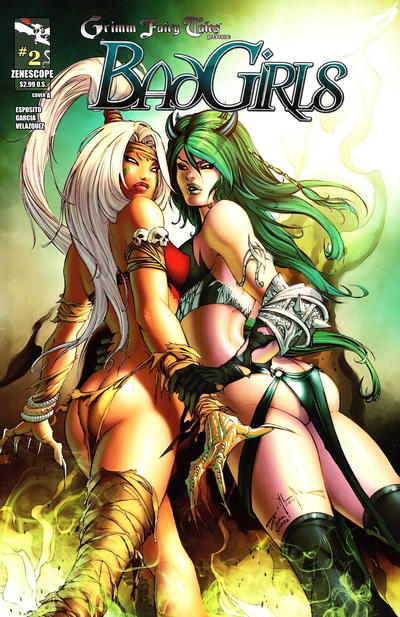 Cover for Grimm Fairy Tales Presents Bad Girls (Zenescope Entertainment, 2012 series) #2 [Cover B Jamie Tyndall]