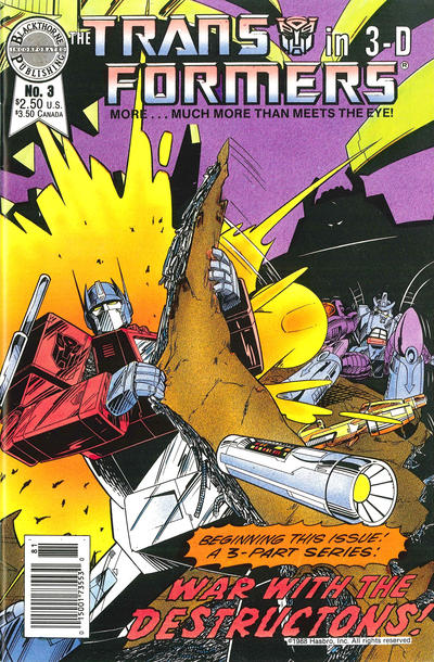 Cover for The Transformers in 3-D (Blackthorne, 1987 series) #3