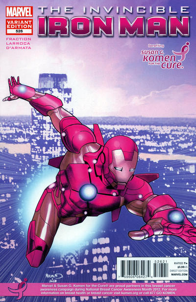 Cover for Invincible Iron Man (Marvel, 2008 series) #526 [Susan G. Komen]
