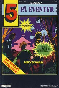 Cover Thumbnail for 5 på eventyr (Hjemmet / Egmont, 1986 series) #1/1987