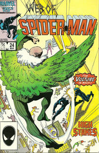 Cover Thumbnail for Web of Spider-Man (Marvel, 1985 series) #24 [Direct Edition]